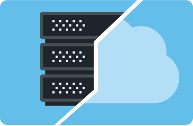 hybrid cloud with file servers diagram