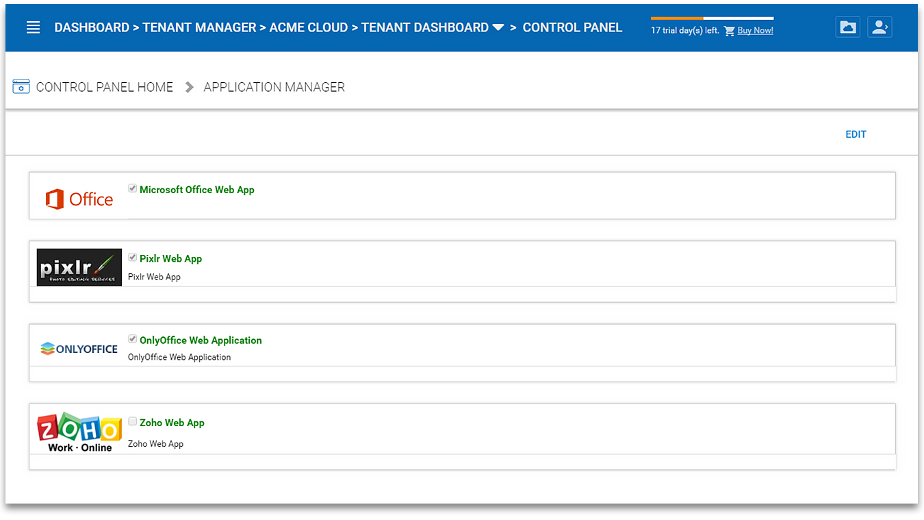 5 Tenant Administration — Administration Guide 8 12