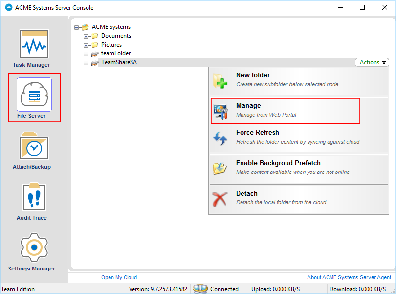 3 Administration and Configuration — File Server Agent User